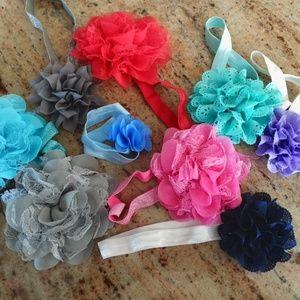Little Girls Flower Headbands Ages 1-3